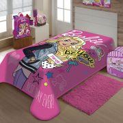 Cobertor Jolitex Solteiro Raschel Barbie Moda