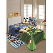 Cobertor Jolitex Solteiro Raschel Disney Mickey Futebol