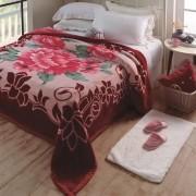 Cobertor King Jolitex Raschel Plus Irtich 2,20x 2,40m Vinho