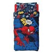 Colcha Dupla Face Solteiro Bouti Spider Man 2 Peças Lepper
