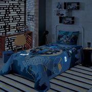 Colcha Simples Batman Brilha no Escuro 04418001| Lepper