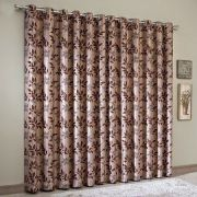 Cortina Blackout Jacquard 200x180 cm Chocolate Sultan