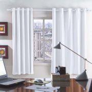Cortina Corta Luz PVC(Plástico) 280x230 Mesma Cor Frente e Verso | Bella Janela