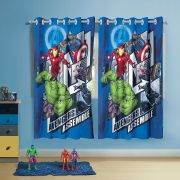 Cortina Infantil Avengers com 2 folha de 1,50 x 1,80 Lepper
