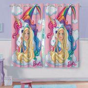 Cortina Infantil Barbie Reinos Mágicos 2 folha de 1,50x1,80 Lepper