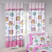 Cortina  Infantil Curta Disney Princesas 2,80x1,80m   Santista