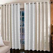 Cortina Jacquard Bicolor 6 x 2,5 m para sala/quarto | Admirare