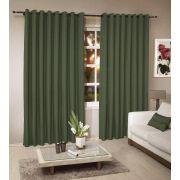 Cortina Rústica Para Janela 300 x 280 Verde Musgo | Admirare