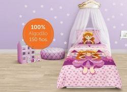 Edredom Infantil Solteiro Princesa | Lepper