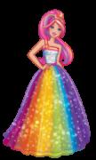 Edredom Dupla Face Microfibra Solteiro Barbie Reinos Mágicos