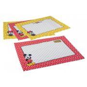Jogo Americano Estampado 4 lugares Mickey e Minnie | Lepper