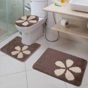 Jogo de Banheiro 3 Peças Van Gogh Flora Jolitex