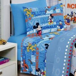 Jogo De Cama Infantil Mickey Club 3 Peças | Santista