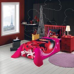 Jogo de cama Miraculous: As Aventuras de Ladybug 3 Peças 059101 | Lepper