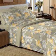 Jogo de cama Solteiro 200 fios 100% Algodão Comfort Lilly- Guerreiro