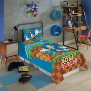 Jogo de Cama Solteiro Sonic Lepper  2 peças
