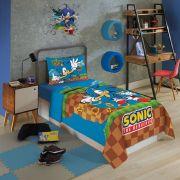 Jogo de Cama Sonic Solteiro Com 3 Peças Lepper