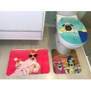 Jogo para Banheiro Gold  | Tapetes Júnior