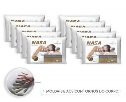 Kit 10 Travesseiros Antialergico Nasa 14 cm | Admirare