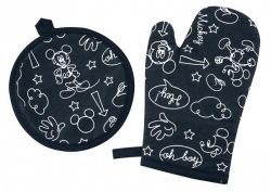 Kit 2 Pecas Mickey e Minnie 1 Luva + 1 Pega Panela | Lepper