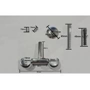 Kit 2 Suporte Teto Duplo 19 mm de Alumínio | Admirare