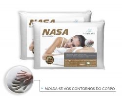 Kit 2 Travesseiros Antialergico Nasa 14 cm | Admirare