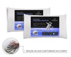 Kit 2 Travesseiros Antialergico Viscoelastico Nasa | Admirare