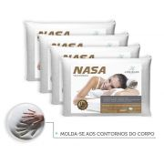 Kit 4 Travesseiros Antialergico Nasa 14 cm | Admirare