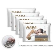Kit 5 Travesseiros Antialergico Nasa 14 cm | Admirare