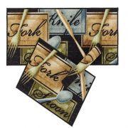 Kit Tapete Cozinha Gourmet 3 Pecas Spoon Corttex Casa