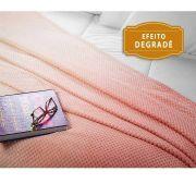 Manta Casal Fleece Degrade Melodie Rosa Super Macio Lepper