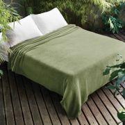 Manta de Microfibra Casal Verde Dyuri Jolitex