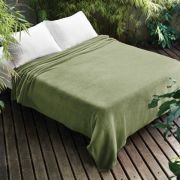 Manta de Microfibra King Verde  Dyuri Jolitex