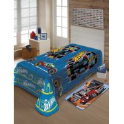 Manta Joitex Infantil Soft Hot Wheels Corrida Toque Macio