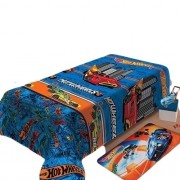 Manta Jolitex Infantil Soft Hot Wheels Turbo Toque Macio