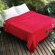 Manta Microfibra Dyuri Queen Scarlet 2,20x2,40m | Jolitex