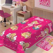 Manta Microfibra Mattel soft Barbie Fashion   Jolitex