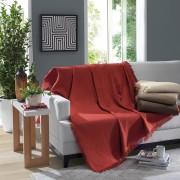 Manta Para Sofá Algodão Marrocos Vermelha 150x210 Döhler