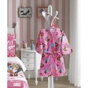 Roupão Barbie Infantil Aveludado Licenciado Tamanho G Döhler