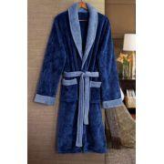 Roupão de Banho Flannel Tamir Paris Azul Tam: M