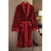 Roupão de Banho Flannel Tamir Paris Vermelho Tam: G