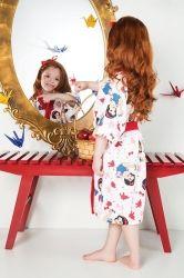 Roupão Felpudo Quimono Princesas - Branca de Neve | Lepper
