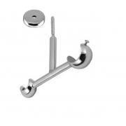 Suporte Teto Duplo 19/28 mm de Alumínio - Par | Admirare