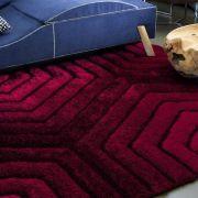 Tapete 3D Standal Vermelho para Sala/Quarto 1,5 x 1,0 m | Corttex