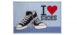 Tapete de Porta 40x60 cm Happy Day Love Shoes  Corttex