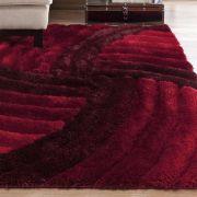 Tapete de Sala 3D 200x300 cm Star Pelo Degradê Vermelho| Corttex