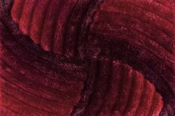 Tapete De Sala 3d Sta 1,50 X 2,00 M Pelo Alto Degradê Vermelho