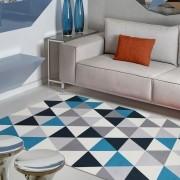 Tapete de Sala e Quarto Allegra Grecia Azul 1,00x1,40m Jolitex