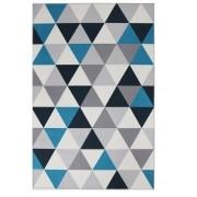 Tapete de Sala e Quarto Allegra Grécia Azul 1,40x2,00m Jolitex