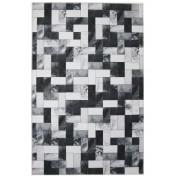 Tapete Jolitex Preto e Branco Sala e Quarto Allegra Oregon 100x1,40m